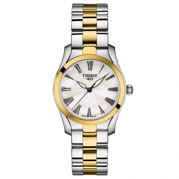 Tissot T-Wave Two-Tone Stainless Steel Mother-Of-Pearl Dial Quartz (T112.210.22.113.00)