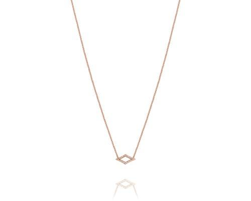 Tacori: 18 Karat Rose Gold Necklace With 0.09Tw Round Diamonds Name: Ivy Lane Pave Chevron Length: 18