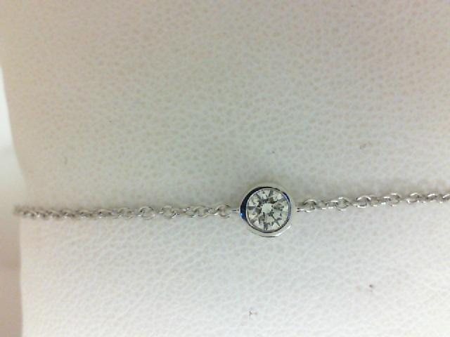 Forevermark: 18 Karat White Gold Tribute Bracelet With One 0.25Ct Forevermark Round J Vs1 Diamond Fm 6503230