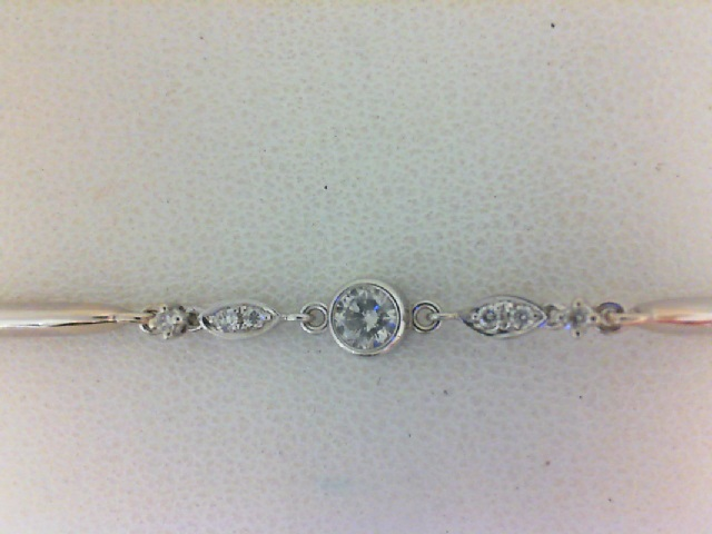 14 Karat White Gold  Bracelet With 7=0.25Tw Round Diamonds