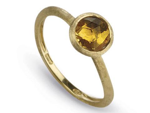 Marco Bicego: 18 Karat Yellow Gold Jaipur Fashion Ring With Round Citrine