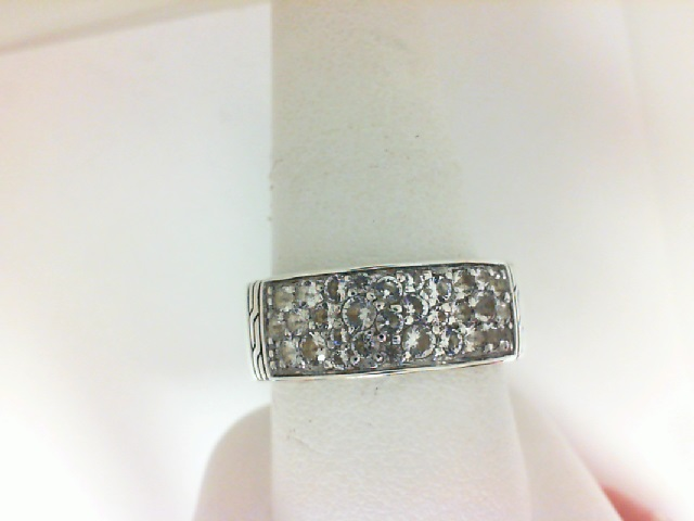 John Hardy: Sterling Silver Fashion Ring With White Topaz