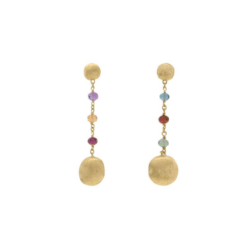 Marco Bicego: 18 Karat Yellow Gold Africa Gemstone Drop Dangle Earrings