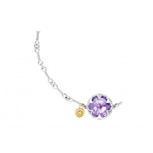 Tacori: 18K/925  Sterling Silver Bracelet With One 3.34Ct Rose Cut Amethyst Style Name: Sonoma Skies- Amethyst Length: 7.5