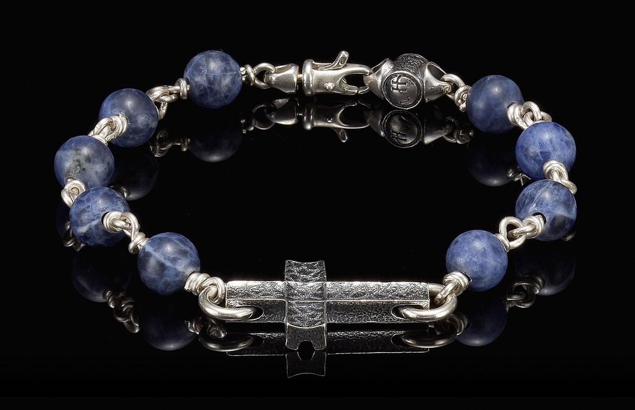 William Henry   BB21 SOD LG  Sodalite Sanctum Bracelet