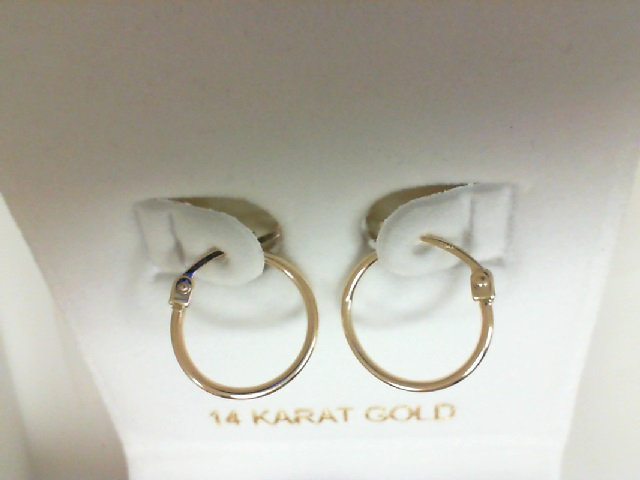 14 Karat Yellow Gold Small Hoop Earrings