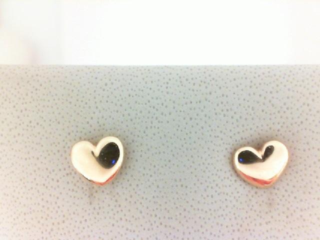 14 Karat Yellow Gold Heart Earrings