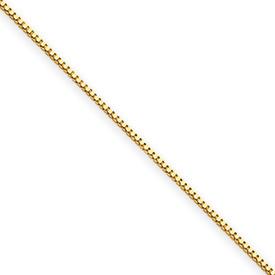 14 Karat Yellow Gold Baby Box Chain  16 inch