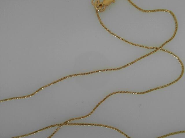 14 Karat Yellow Gold Spiga  Chain 22