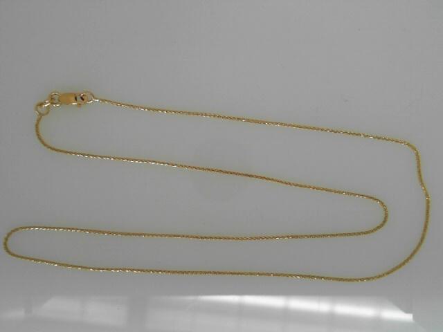 Yellow 14 Karat spiga 16 inch Chain