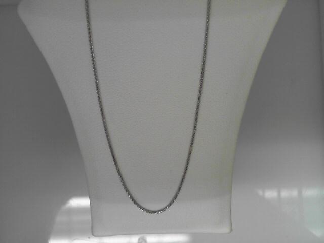 14 Karat White Gold Spiga Chain 16