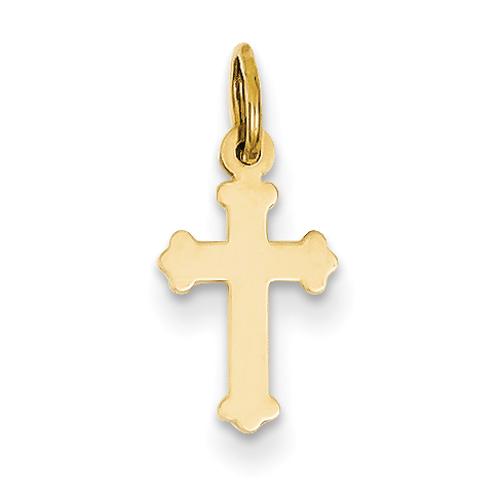14 Karat Yellow Gold Polished Cross Charm