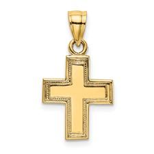 14 Karat Yellow Gold Cross