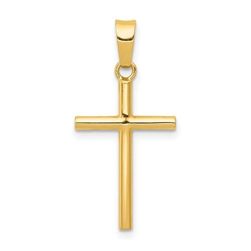 14 Karat Yellow Gold Polished Cross Charm 25x12.5mm
