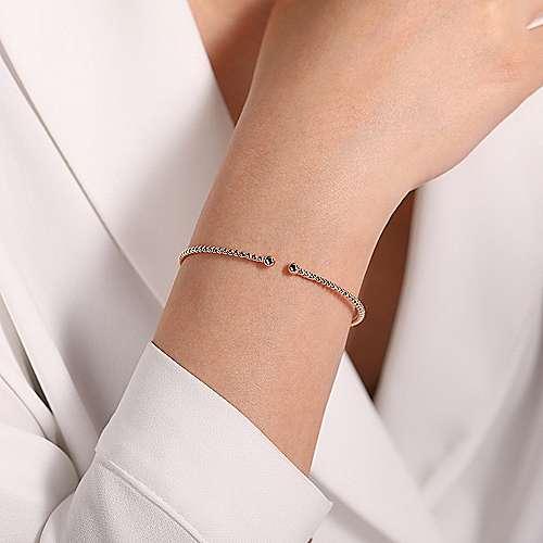 Gabriel & Co: 14 Karat Rose Beaded Bujukan Gold Bracelet