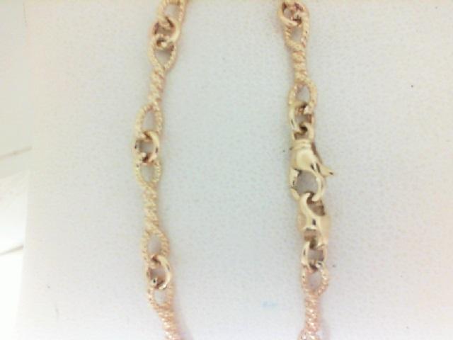 14 Karat Yellow Gold  7 Inch Infinity Rope  Bracelet