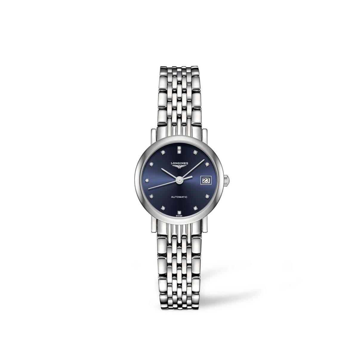 Longines: Stainless Steel 25.5mm Elegant Automatic Watch (L43094976)