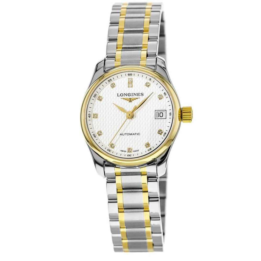 Longines:Stainless Steel And18 Karat Gold 25mm Master Collection Automatic Watch(L2128577)