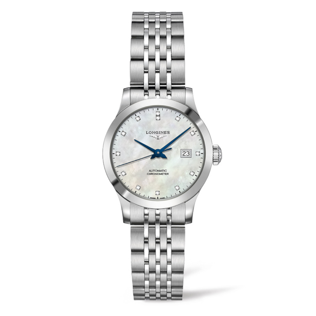 Longines: Stainless Steel 30mm Record  Automatic Chronometer Certified By The COSC Watch(L23214876)