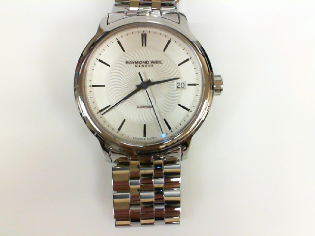 Raymond Weil: Stainless Steel Swiss Automatic Maestro Watch With Silver Dial