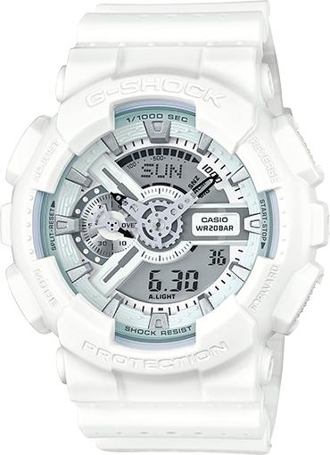Casio:  G-Shock Chronograph Analog-Digital White Resin Watch