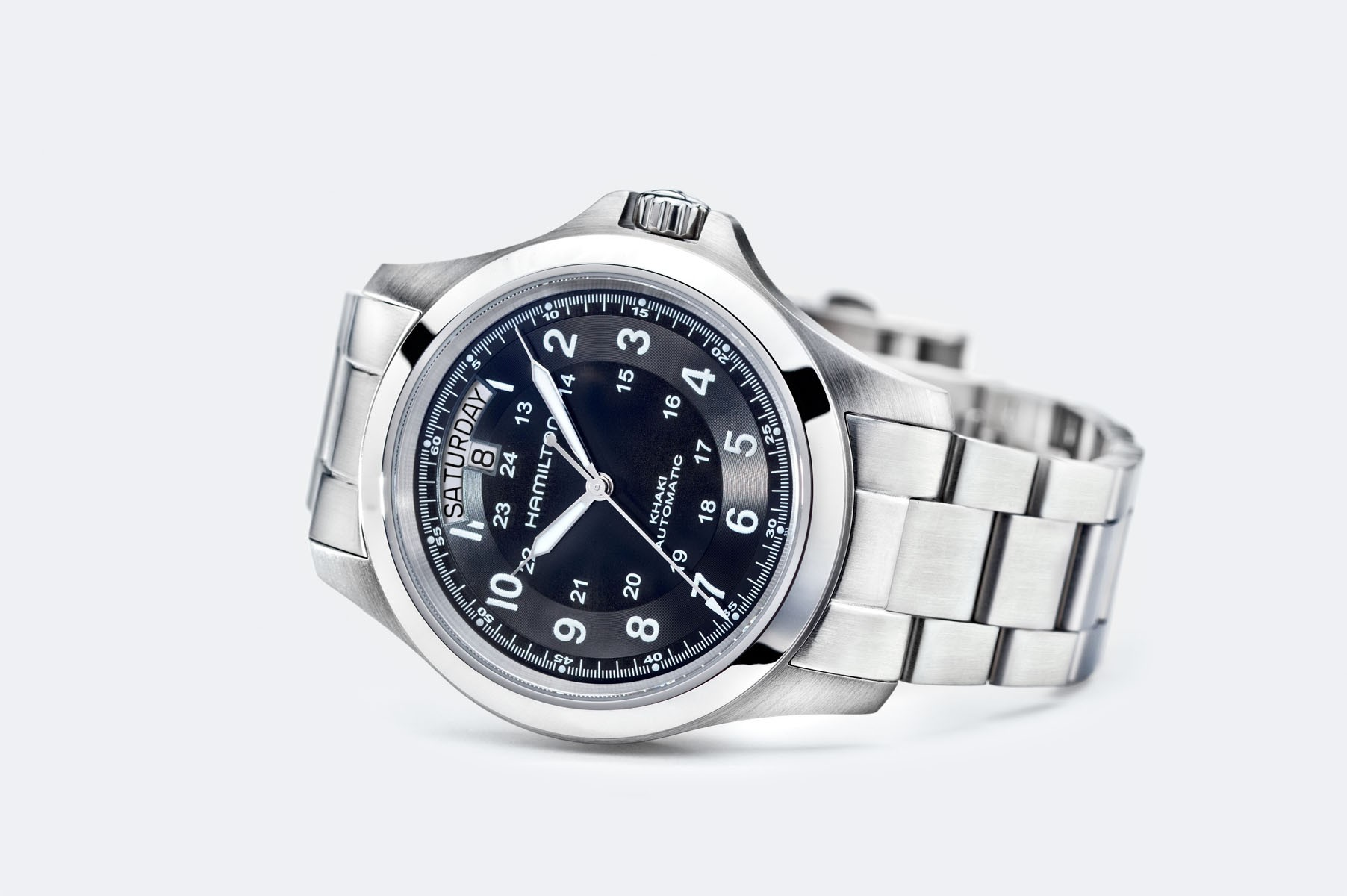 Hamilton: Stainless Steel 40mm Khaki Field King Watch  Automatic  Watch