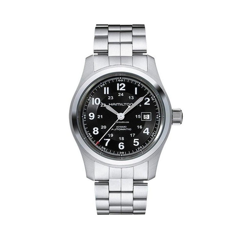Hamilton: Stainless Steel 42mm Khaki Field Automatic Watch