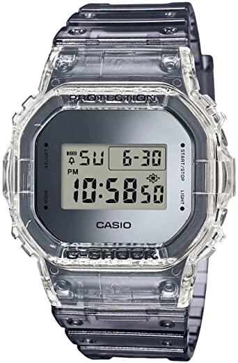 Casio: G Shock  Digital Skeleton Clear Gray Resin Watch