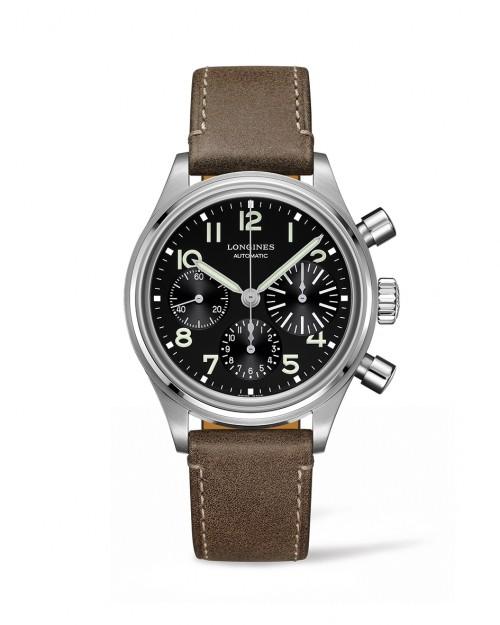 Longines Stainless Steel  41mm Aviation Bigeye Automatic Chronograph Watch(L28164532)