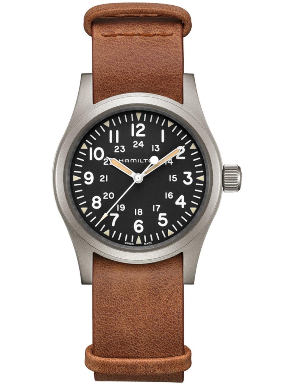 Hamilton: Stainless Steel 38mm Khaki Field Mechanical Movement Watch