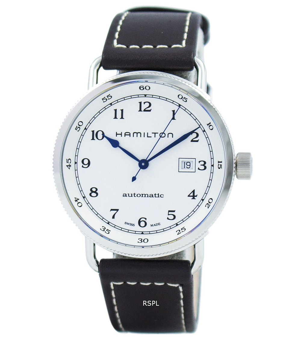 Hamilton: Stainless Steel 43mm Khaki Navy Pioneer Automatic Watch
