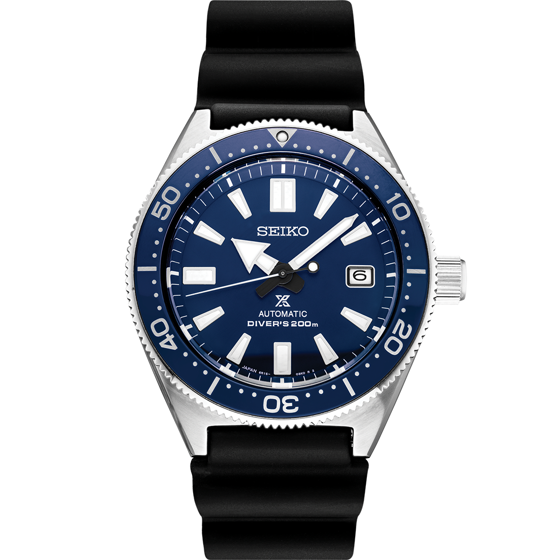 Seiko Prospex Stainless Steel Diver's 200m Automatic With Manual Winding Capacity Watch ( SPB053)