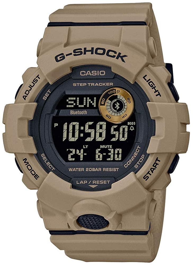 Casio: G Shock Digital Multi Function Watch Name Of Bracelet: Tan Resin Clasp: Tang Buckle Dial Color: Black