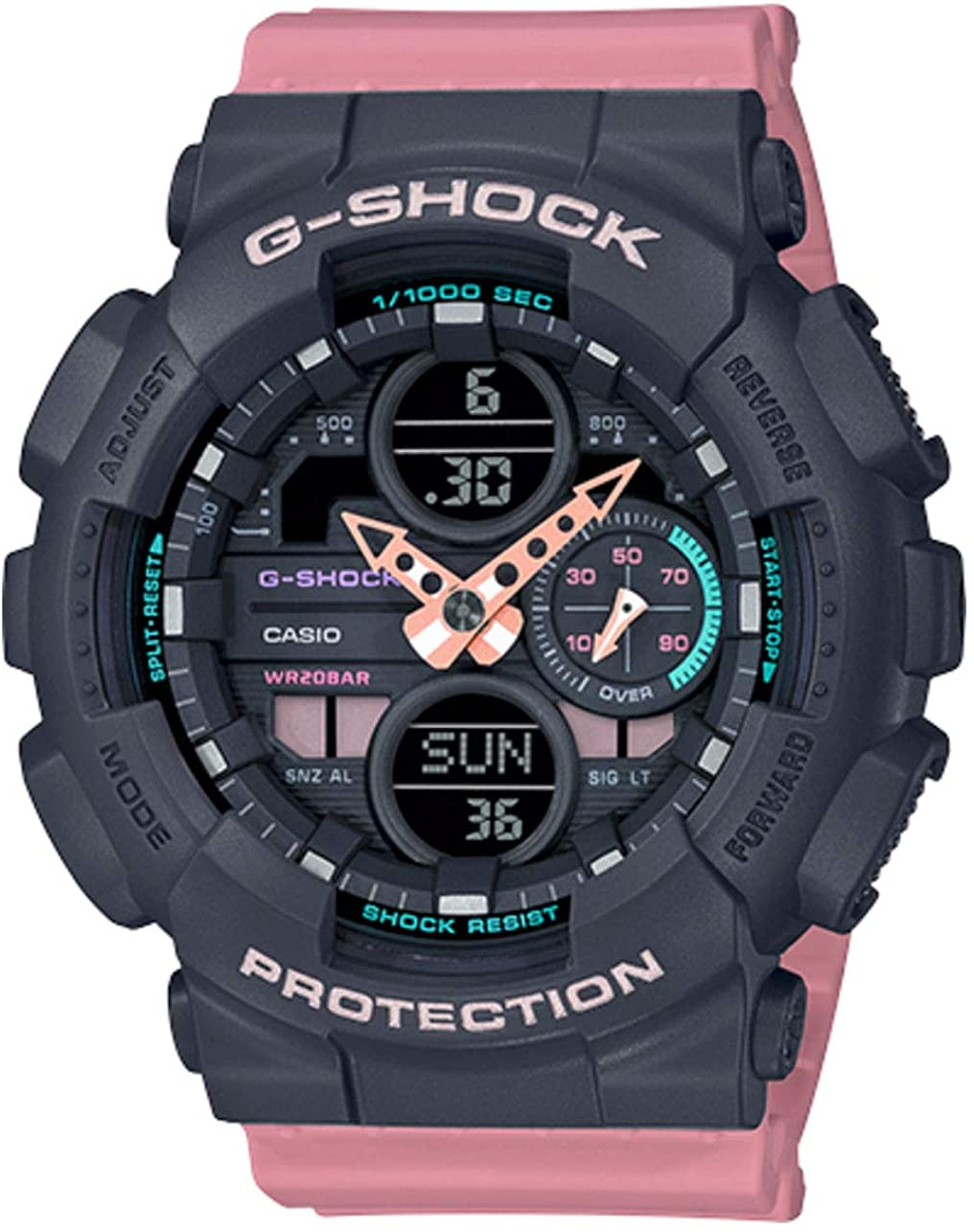 Casio G-Shock S-Series Pink Resin Band Watch