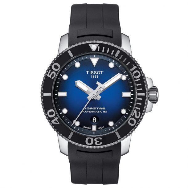 Tissot Seastar 1000 Powermatic 80 Black Rubber Strap Watch (T120.407.17.041.00)