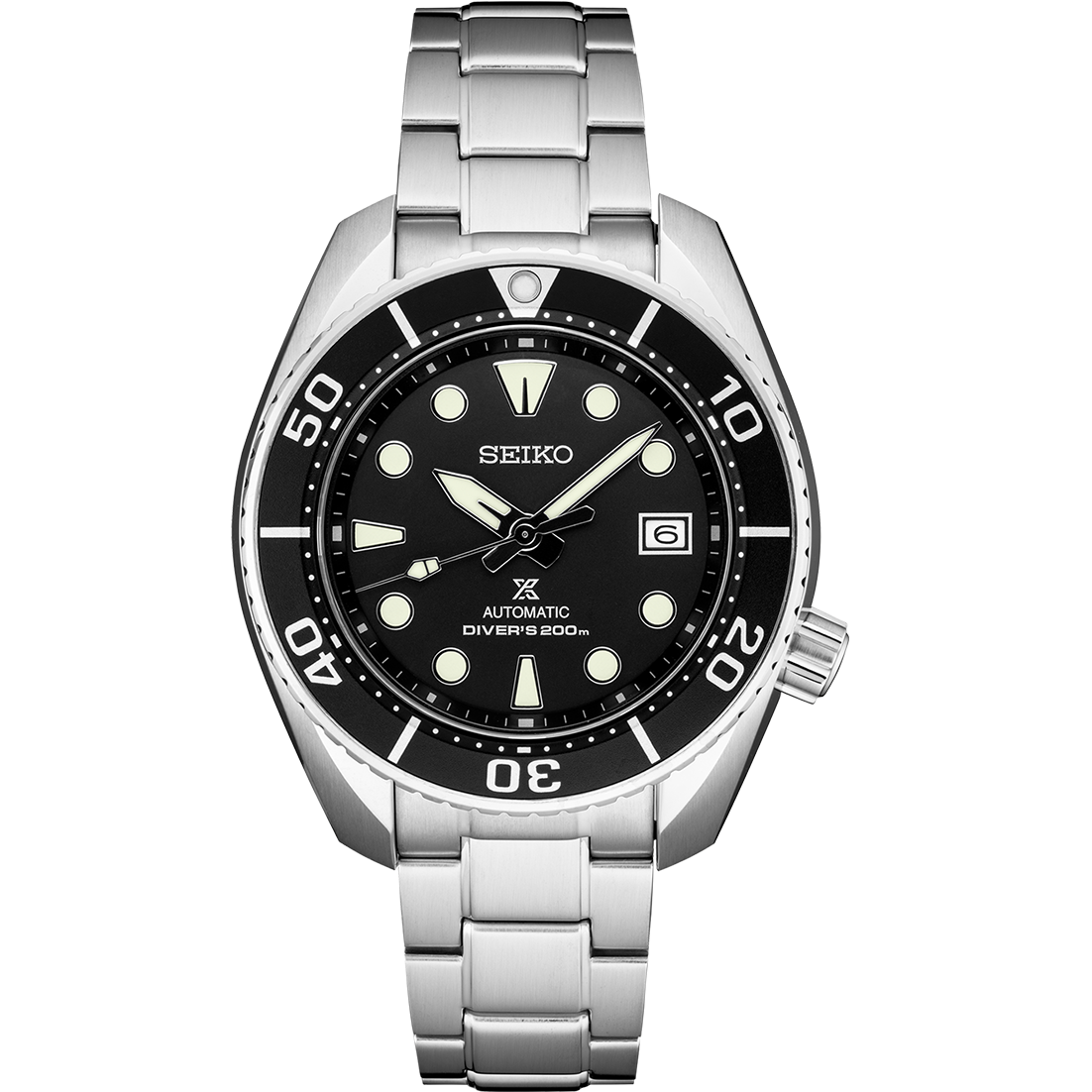 Seiko Stainless Steel 45mm Prospex Diver's 200m Automatic Watch (SPB101)