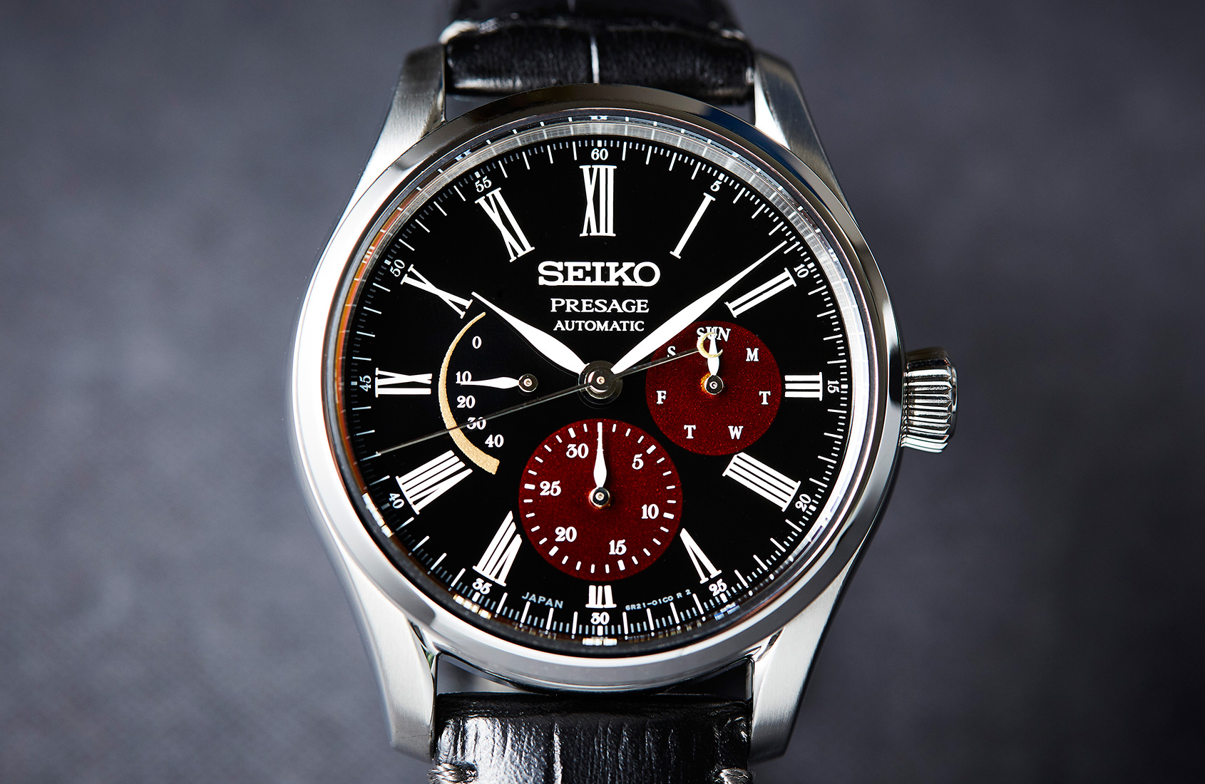 Seiko Stainless Steel Presage 40.5mm Limited  Edition Automatic/ Hand Winding Watch With Urushi Lacquer Black Dial (SPB085)
