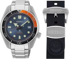 Seiko  Prospex Stainless Steel Diver's 200m Automatic Watch Comes With And Extra Black Silicone Strap (SPB097)