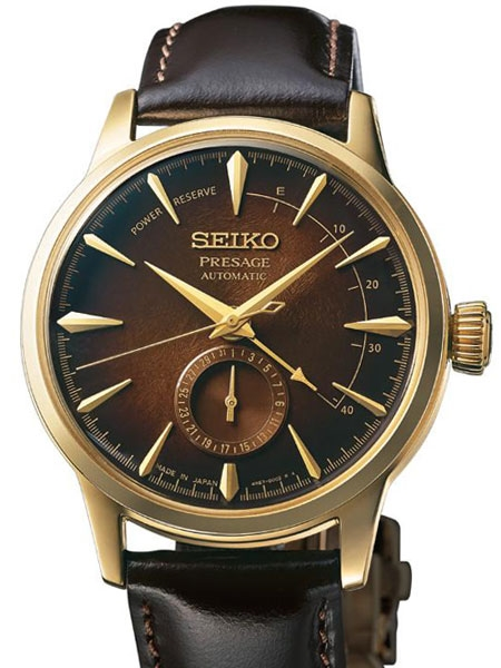 Seiko  Presage Stainless Steel And Yellow Brown Dial Limited  Edition Automatic Watch (SSA392)