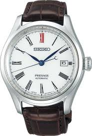 Seiko Presage Stainless Steel Automatic Watch With Arita Porcelain Dial (SPB095)