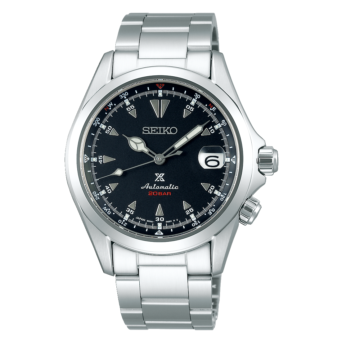 Seiko Prospex Stainless Steel Automatic 'Alpinist' With Manual Winding Capacity Watch (SPB117)