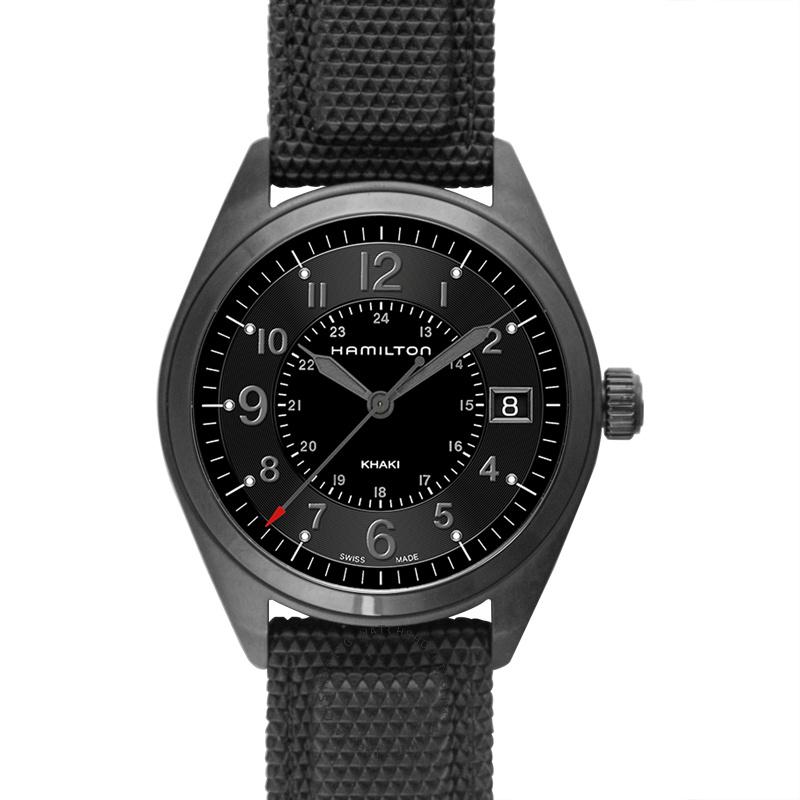 Hamilton Khaki Field Quartz Watch (Black PVD over Stainless Steel)