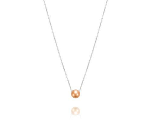 Tacori:  Sterling Silver & 18 Karat Sonoma Mist Rose Dew Drop 9mm Chain Length: 18