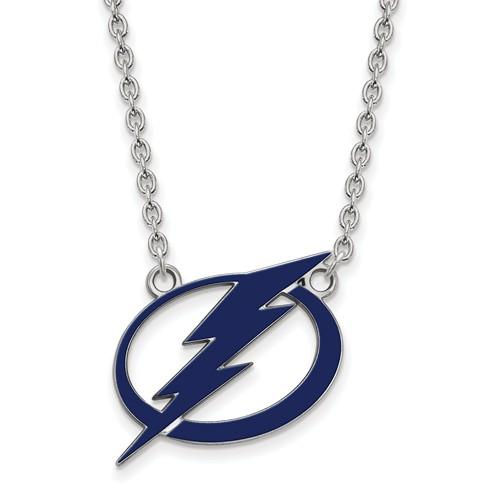 Sterling Silver Chain Enamel Lightning Charm 18