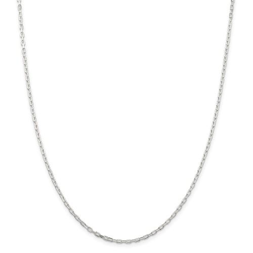 Sterling Silver Diamond-Cut 2.2mm Open Link 20