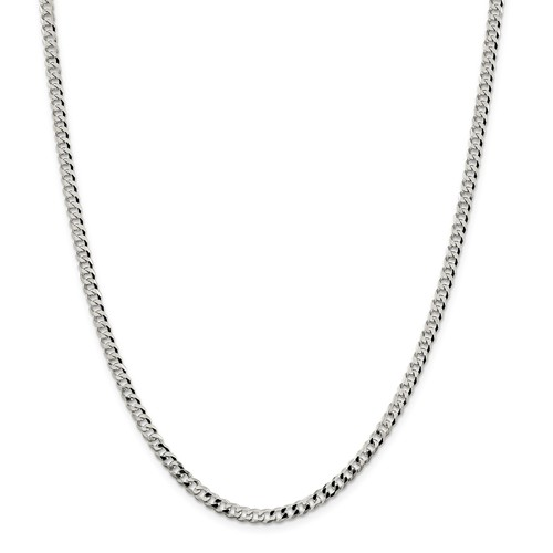 Sterling Silver4.0 mm  Curb Chain  22 Inch