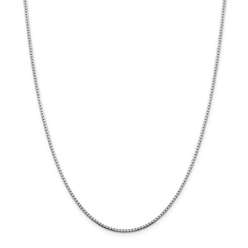 Sterling Silver 1.5mm Diamond-Cut Box Chain 18