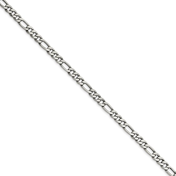 Stainless Steel Figaro Chain 22 Inch