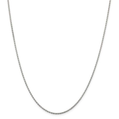 Sterling Silver Diamond-Cut Spiga Chain 18
