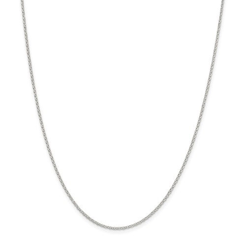 Sterling Silver 1.5mm 8 Side Diamond Cut Cable Chain 18